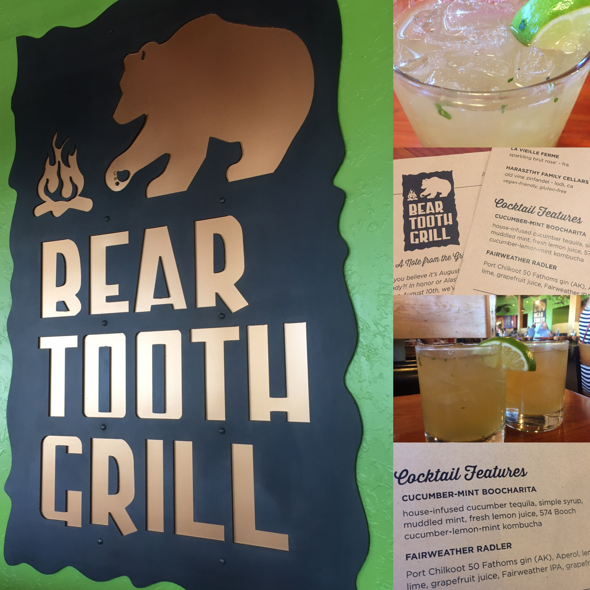 Bear Tooth Grill-Cucumber Lemon Mint
